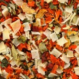 Dried vegetables background